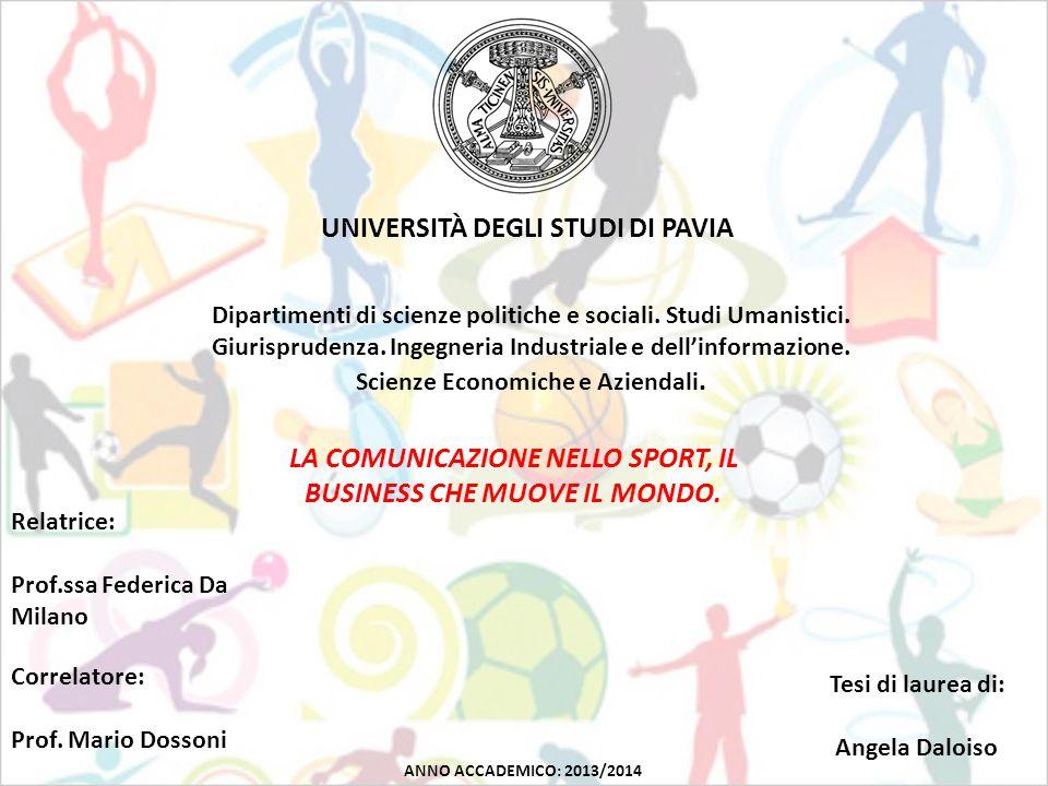 UNIVERSITÀ DEGLI STUDI DI PAVIA Dipartimenti di scienze politiche e sociali.