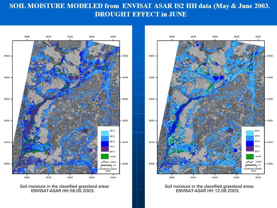 COPAL SEMINAR WARSZAWA 18.01.2008 SOIL MOISTURE MODELED from ENVISAT ASAR IS2 HH data (May & June 2003.