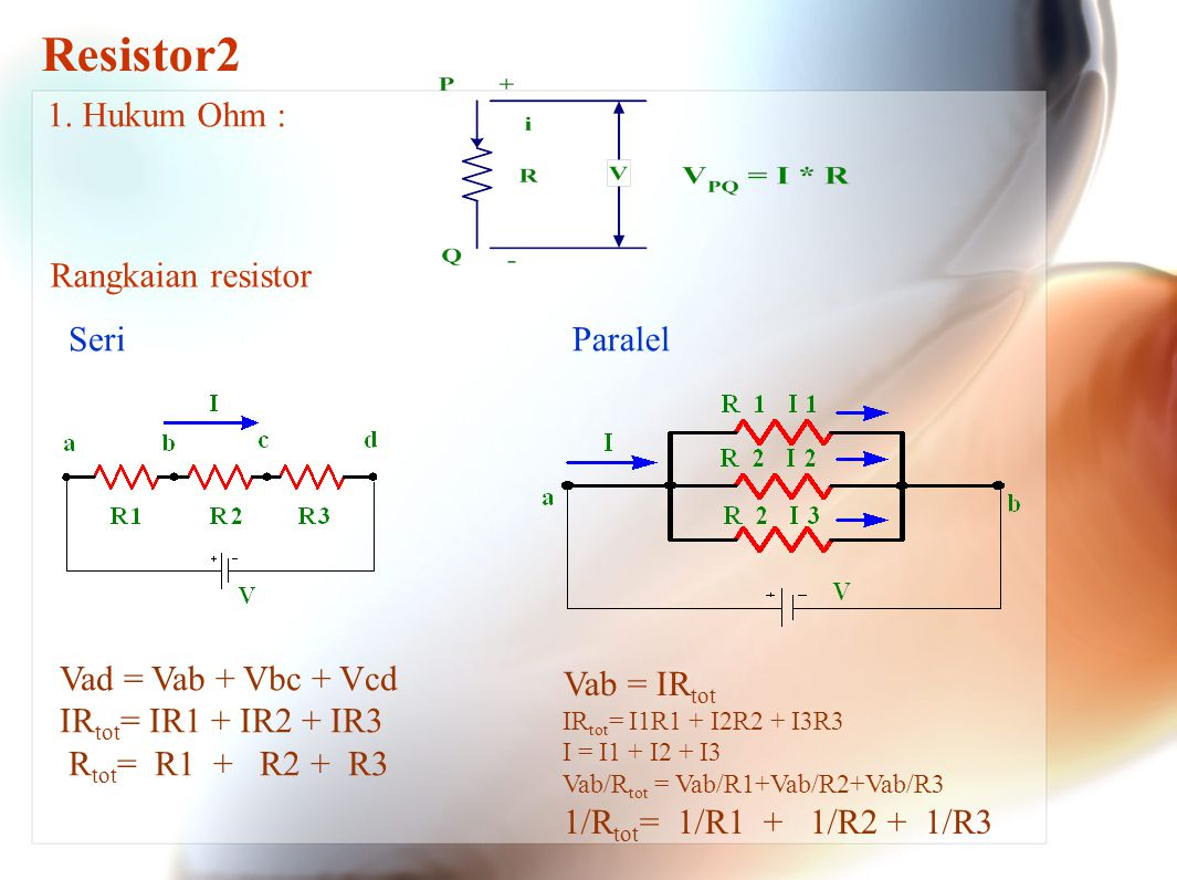 Series Resistor2 The First principle to understand about series circuits is that the amount of current is the same through any component in the circuit.