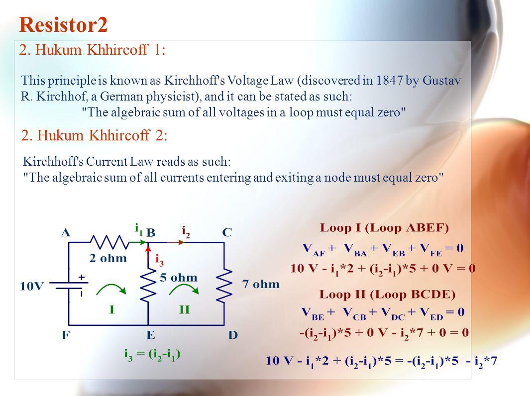 3. Daya Listrik : Ilustrasi: Resistor2