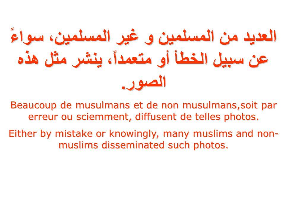 العديد من المسلمين و غير المسلمين، سواءً عن سبيل الخطأ أو متعمداً، ينشر مثل هذه الصور.
