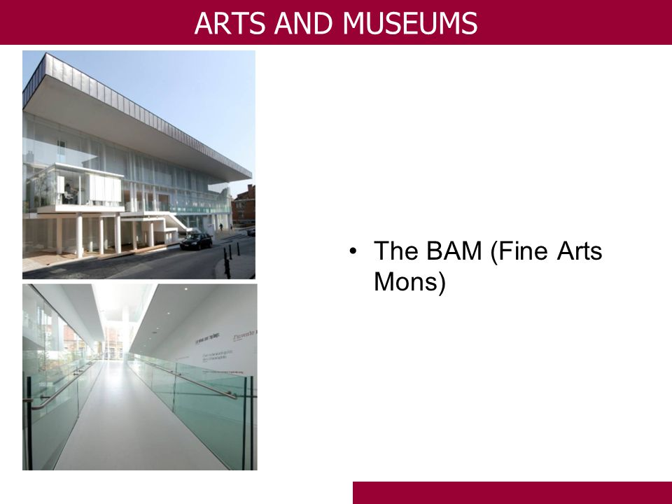 The BAM (Fine Arts Mons) ARTS AND MUSEUMS