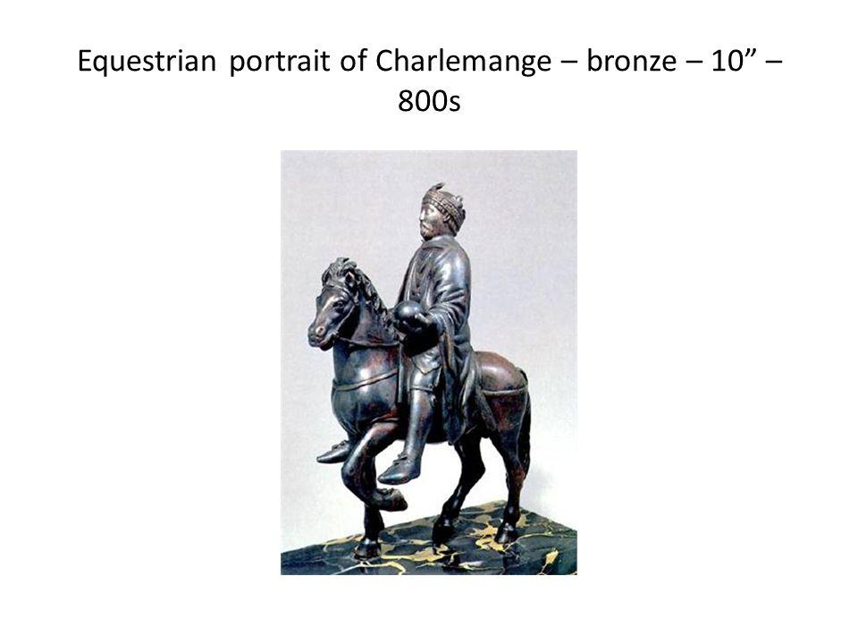 Equestrian portrait of Charlemange – bronze – 10 – 800s