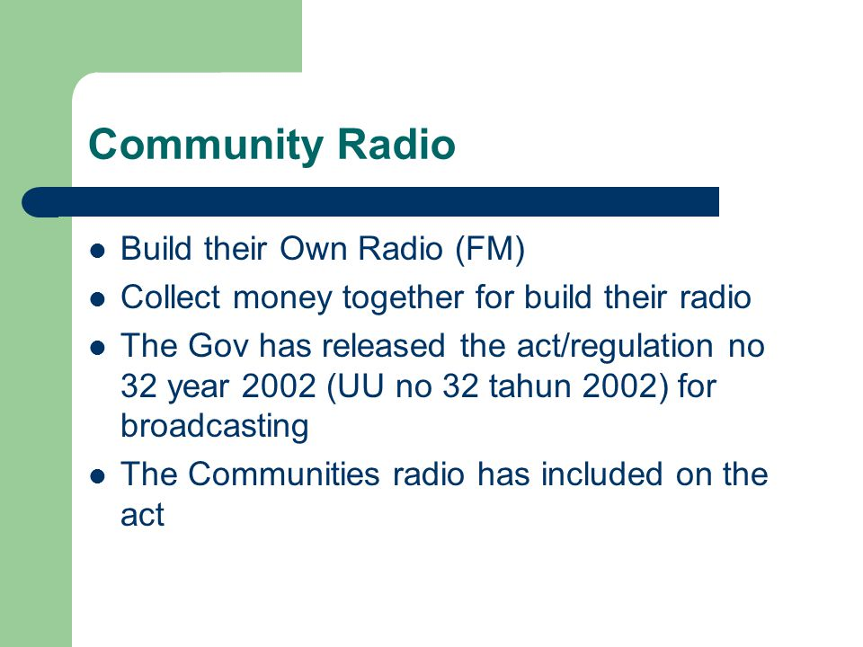 Radio Family FM The main transmitter using Oscillator Operate on FM stereo Build together with young teenagers