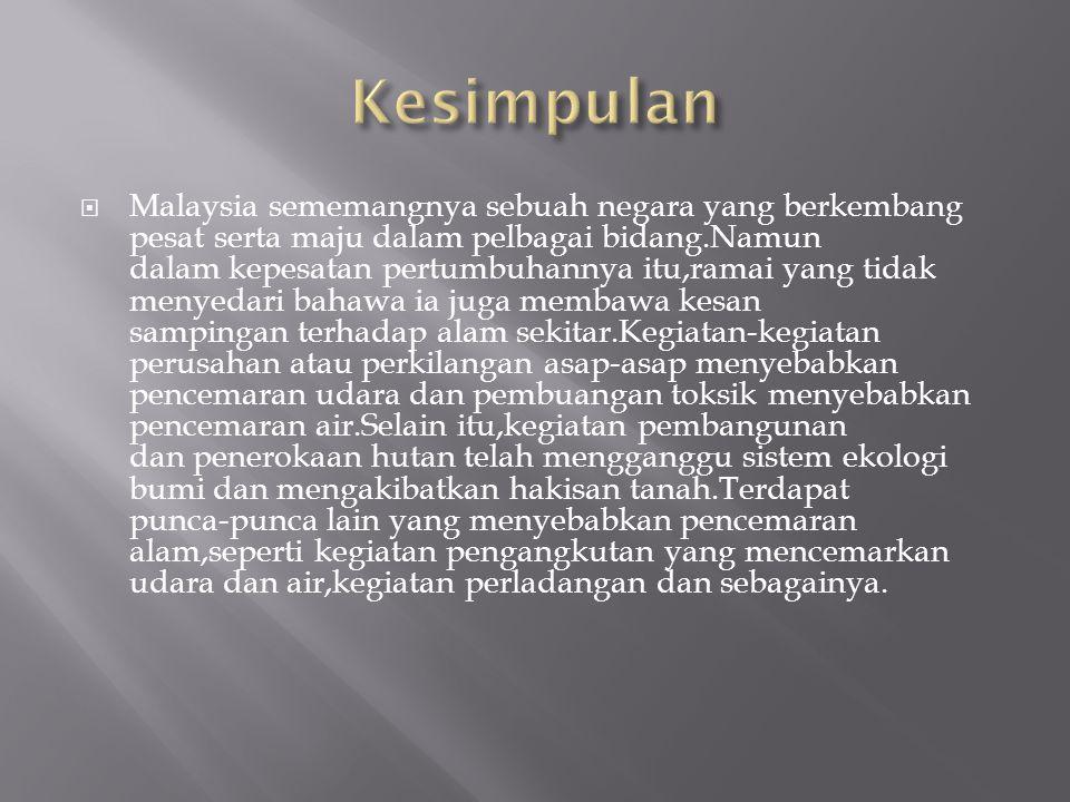  Malaysia sememangnya sebuah negara yang berkembang pesat serta maju dalam pelbagai bidang.Namun dalam kepesatan pertumbuhannya itu,ramai yang tidak