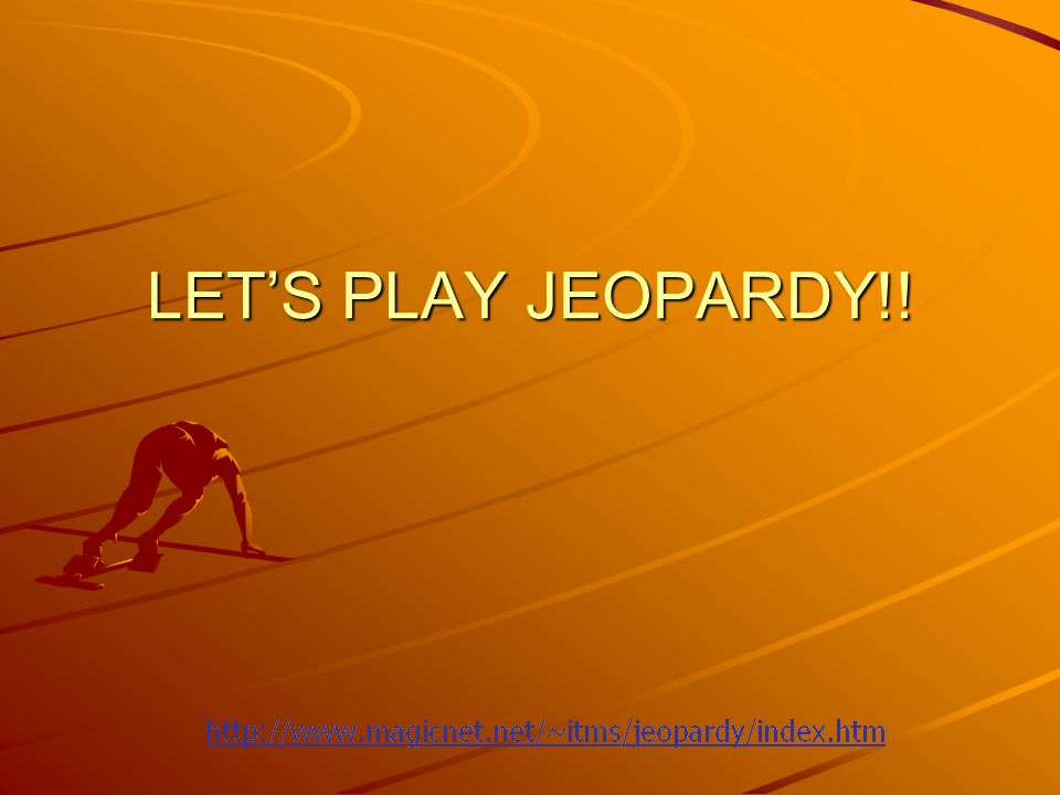 How to use the Jeopardy Template Copy the presentation to your hard drive.