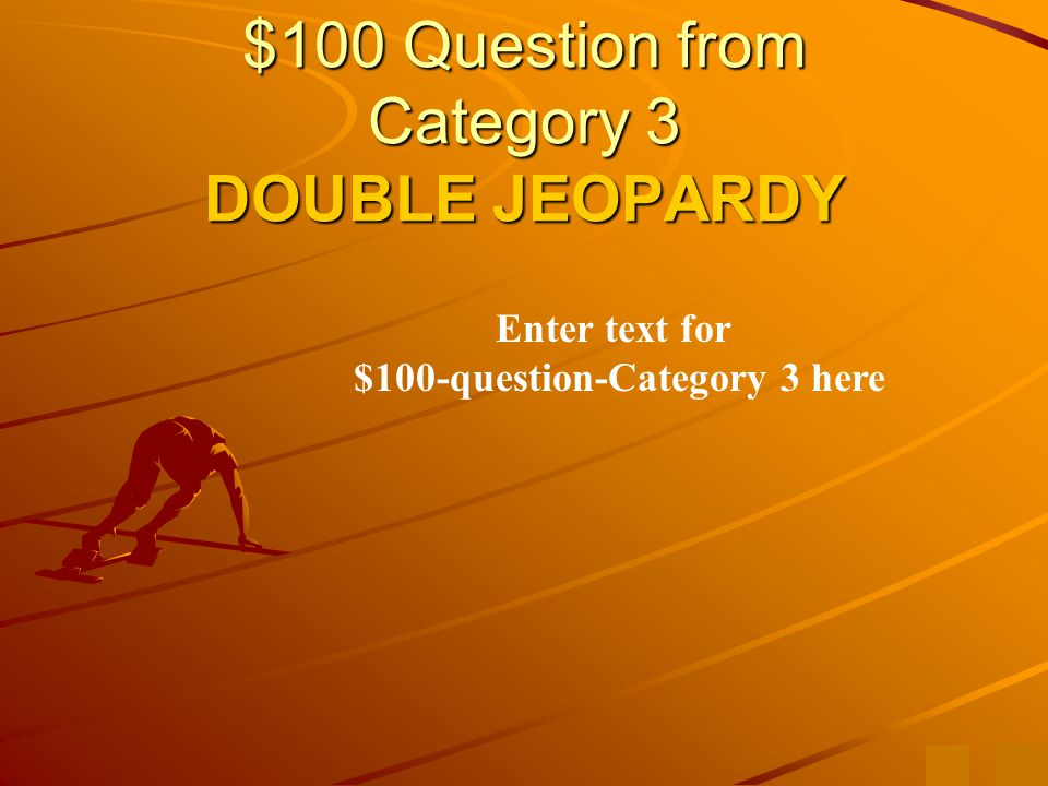 $500 Answer from Category 2 Enter text to answer for $500-question-category 2 here