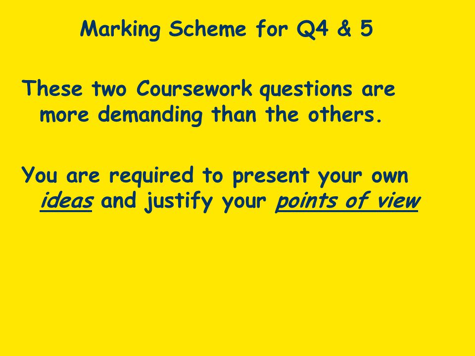 These two Coursework questions are more demanding than the others.