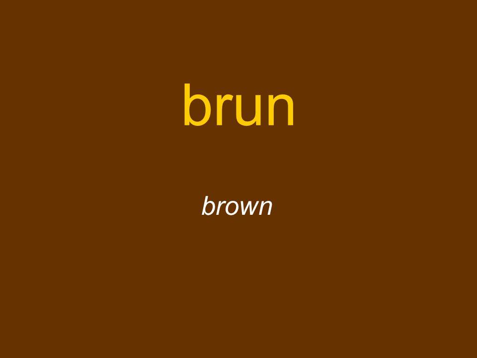 brun brown