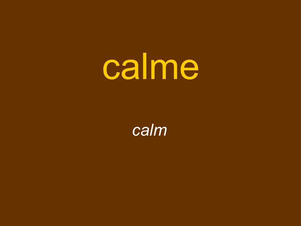 calme calm