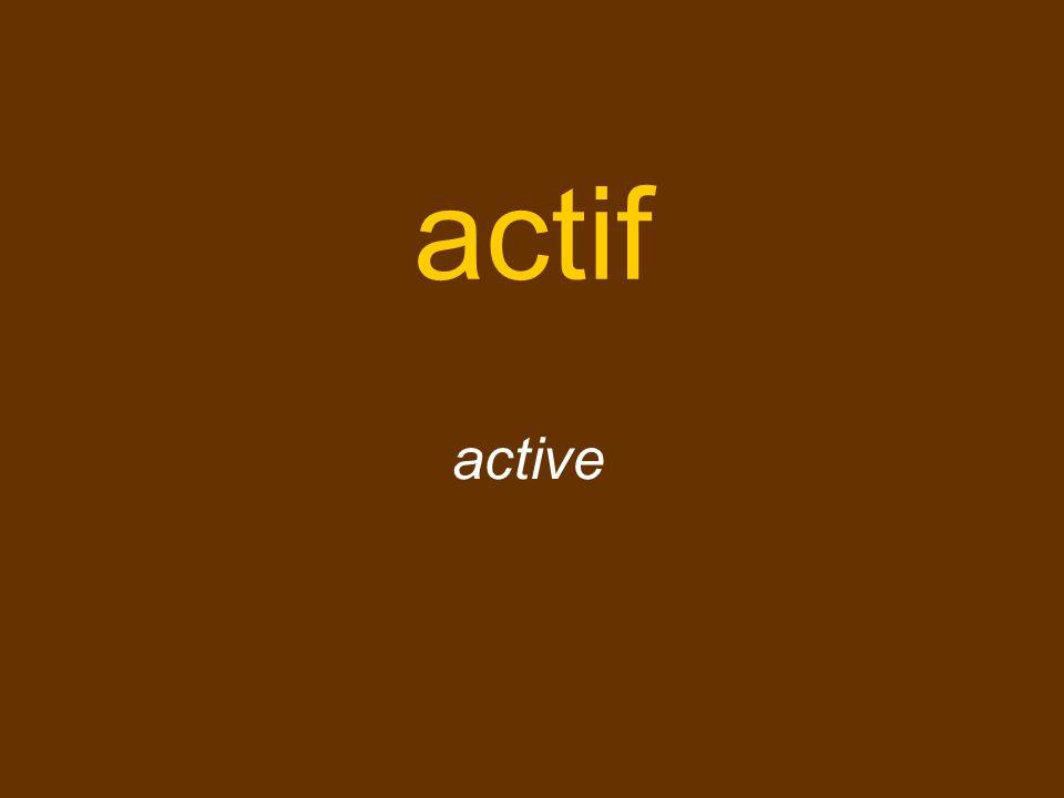 actif active