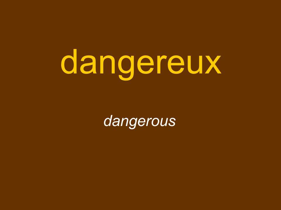 dangereux dangerous