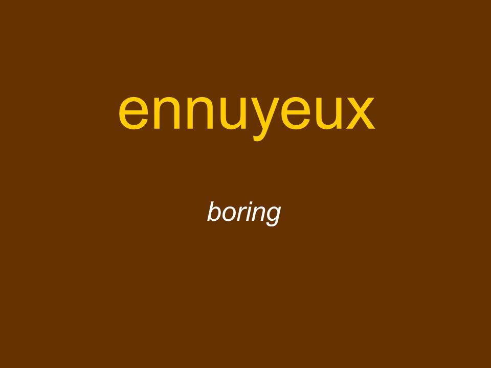 ennuyeux boring