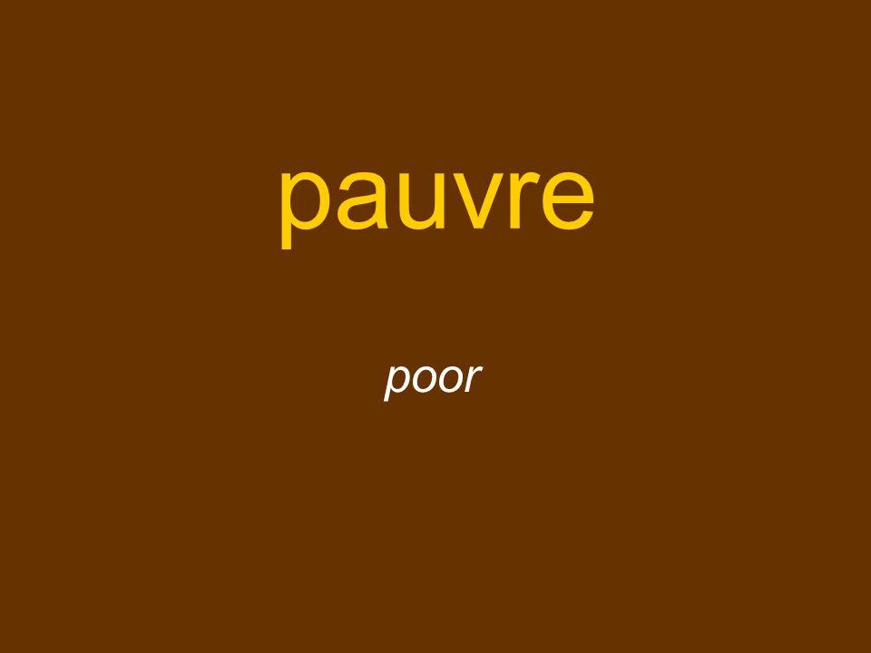 pauvre poor