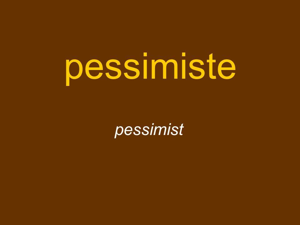 pessimiste pessimist