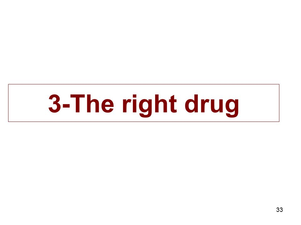 33 3-The right drug
