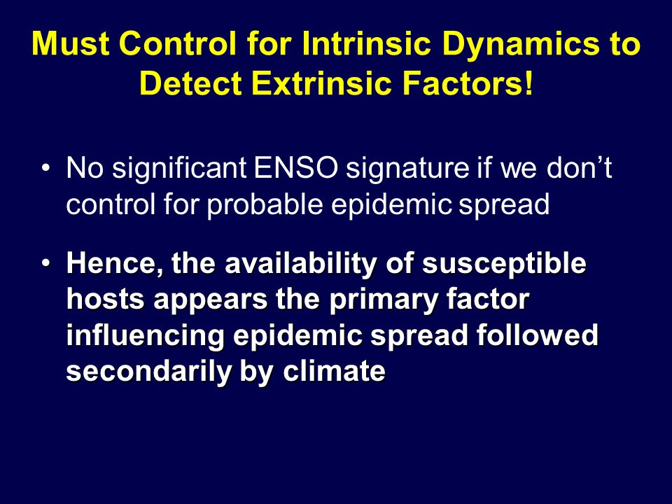 Must Control for Intrinsic Dynamics to Detect Extrinsic Factors.