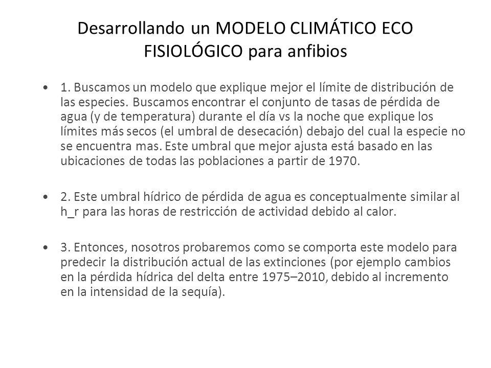 Desarrollando un MODELO CLIMÁTICO ECO FISIOLÓGICO para anfibios 1.