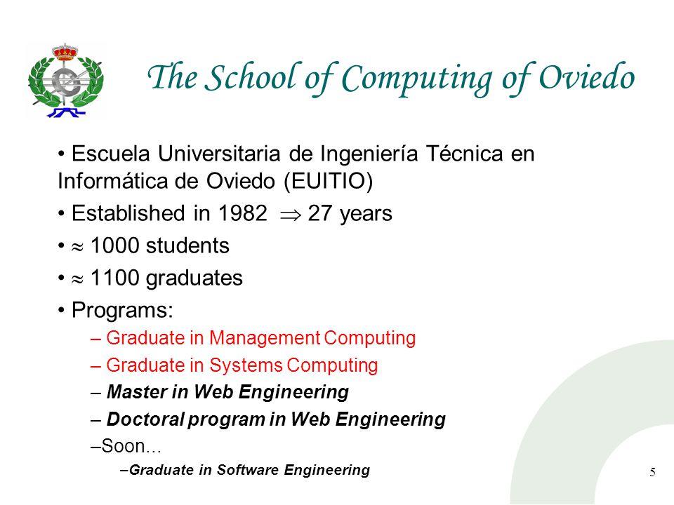 6 The School of Computing of Oviedo Nowadays...