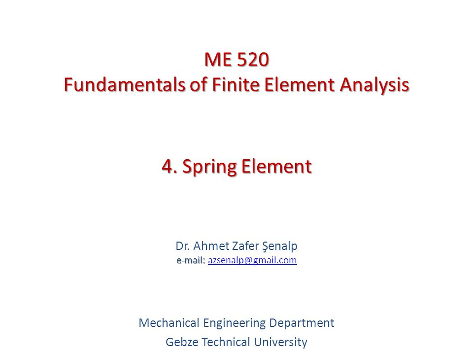 4. Spring Element e-mail: Dr.