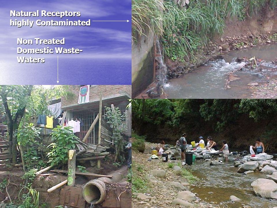 Non Treated Domestic Waste- Waters Natural Receptors highly Contaminated