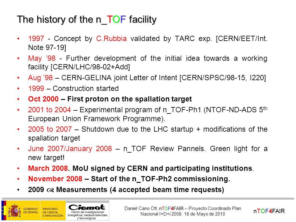 nTOF4FAIR nTOF4FAIR Daniel Cano Ott, nTOF4FAIR – Proyecto Coordinado Plan Nacional I+D+i 2008, 18 de Mayo de 2010 I.Temporary storage.