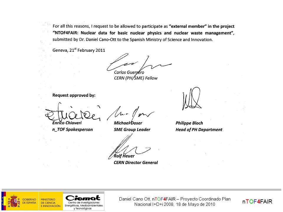 nTOF4FAIR nTOF4FAIR Daniel Cano Ott, nTOF4FAIR – Proyecto Coordinado Plan Nacional I+D+i 2008, 18 de Mayo de 2010 RAW data – 243 Am (1 signal )