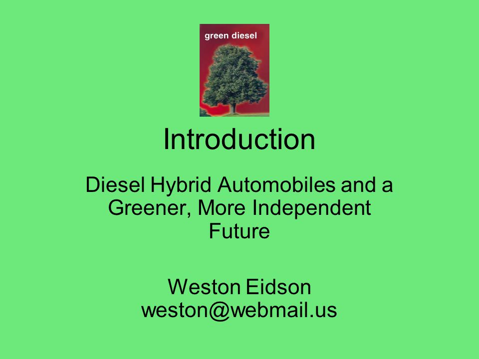 Diesel Over Gasoline New Diesel cars produce less carbon dioxide and nitrous oxide and get 20 to 40 percent better mileage than vehicles already on the market.