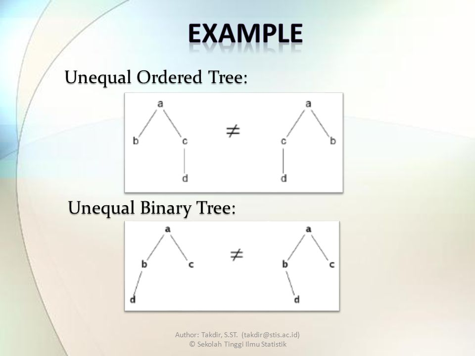 Unequal Ordered Tree: Unequal Binary Tree: