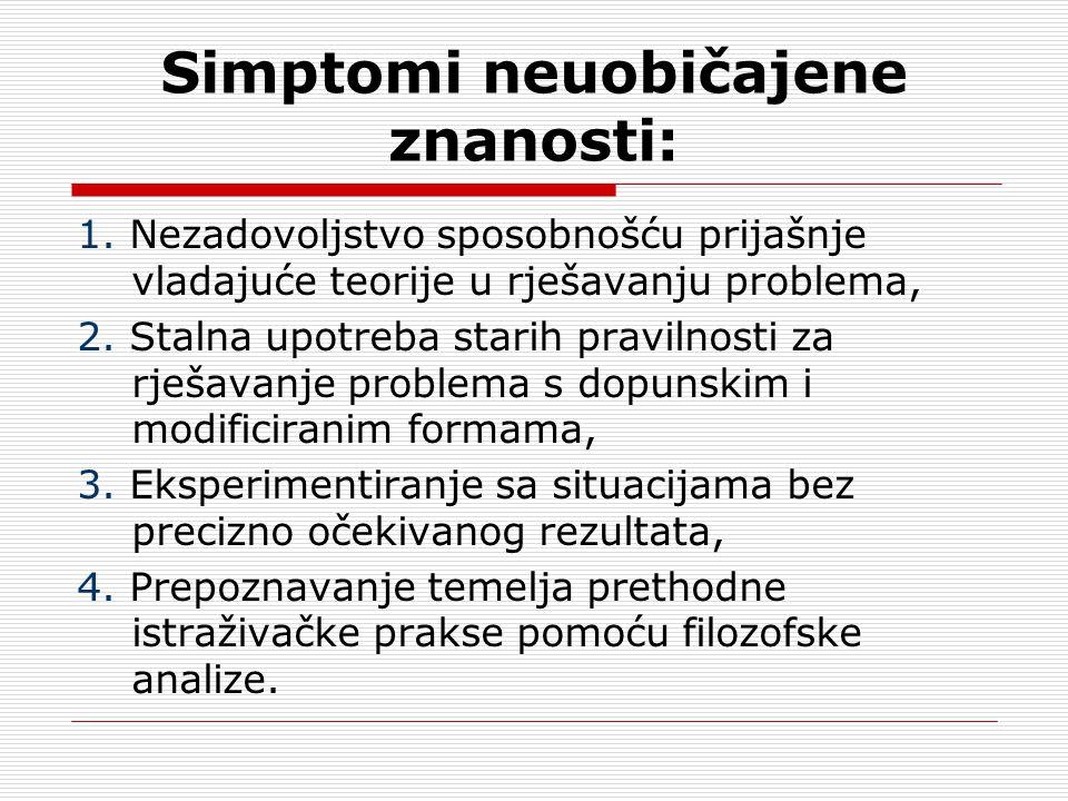 Simptomi neuobičajene znanosti: 1.
