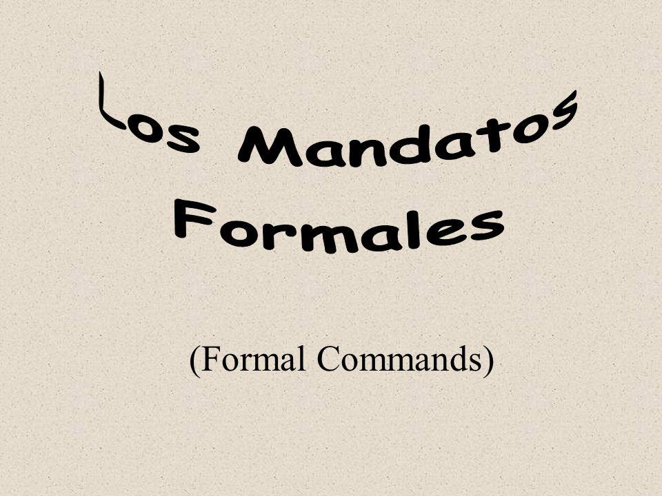 (Formal Commands)