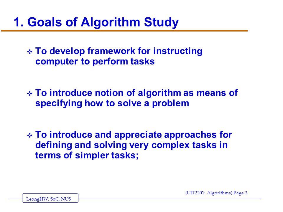 LeongHW, SoC, NUS (UIT2201: Algorithms) Page 3 1.