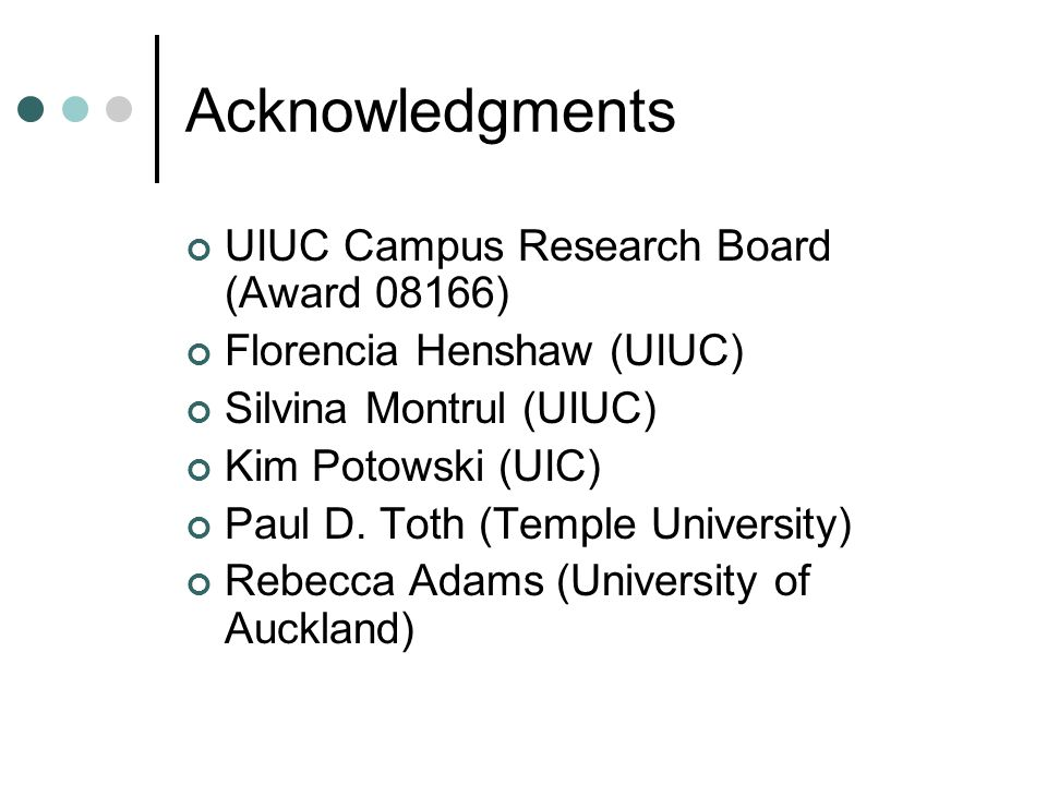 Acknowledgments UIUC Campus Research Board (Award 08166) Florencia Henshaw (UIUC) Silvina Montrul (UIUC) Kim Potowski (UIC) Paul D.