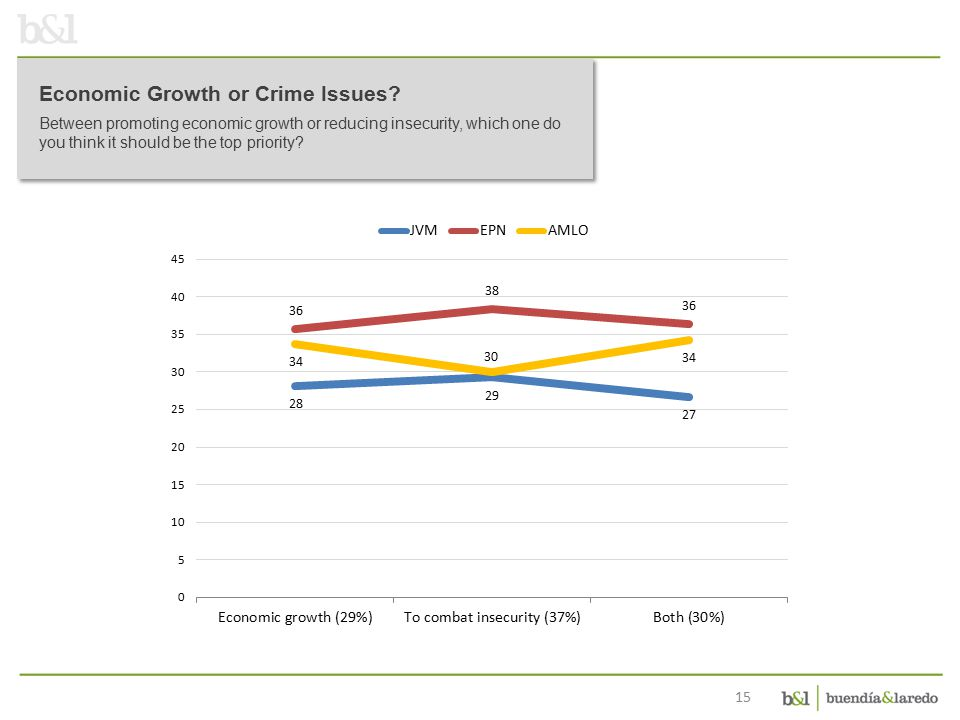 15 Economic Growth or Crime Issues.
