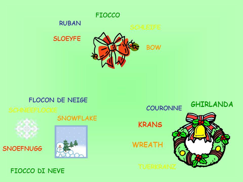 FIOCCO FIOCCO DI NEVE GHIRLANDA WREATH SNOWFLAKE BOW SLOEYFE KRANS SNOEFNUGG RUBAN FLOCON DE NEIGE COURONNE SCHLEIFE SCHNEEFLOCKE TUERKRANZ