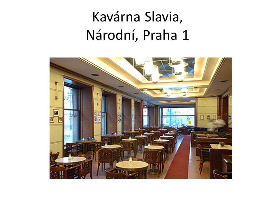 Kavárna Slavia, Národní, Praha 1