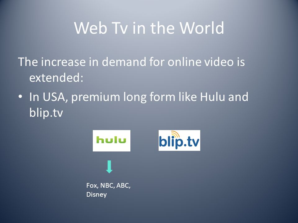 Web Tv in the World Brand & Business Tv University and Campus Tv Lifecasting Micro-Informative Web Television Online Tv Guides Will it blend.