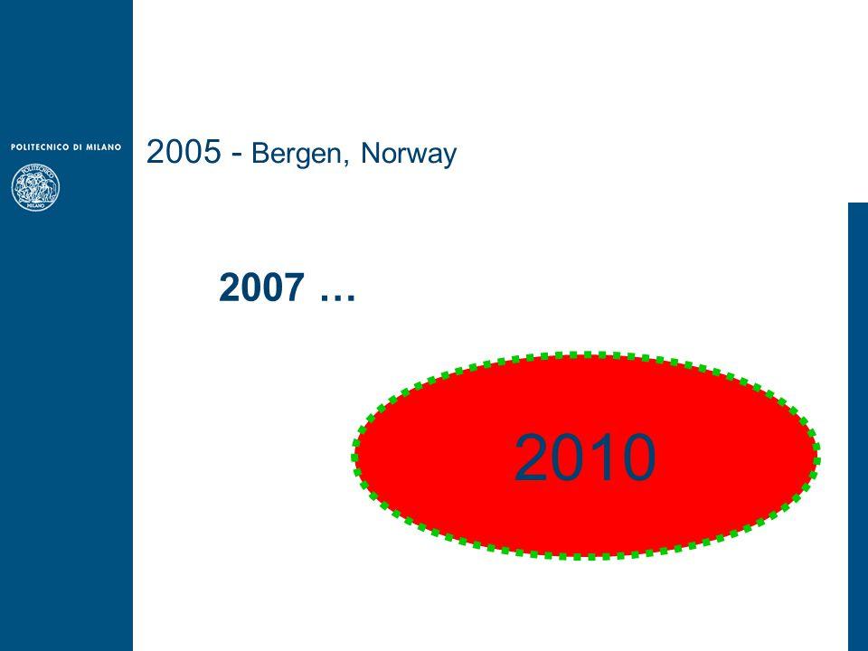 2005 - Bergen, Norway 2007 … 2010