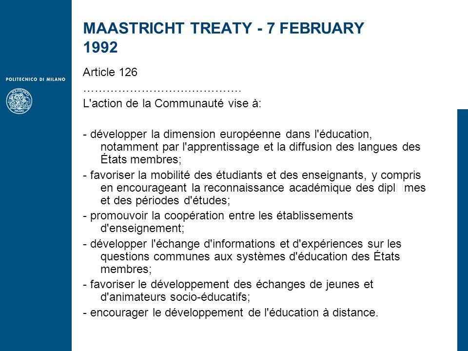 MAASTRICHT TREATY - 7 FEBRUARY 1992 Article 126 ……………………….………….
