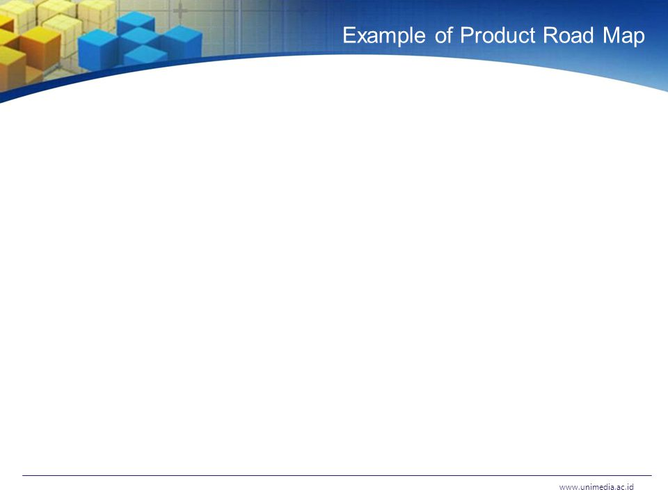 Example of Product Road Map www.unimedia.ac.id