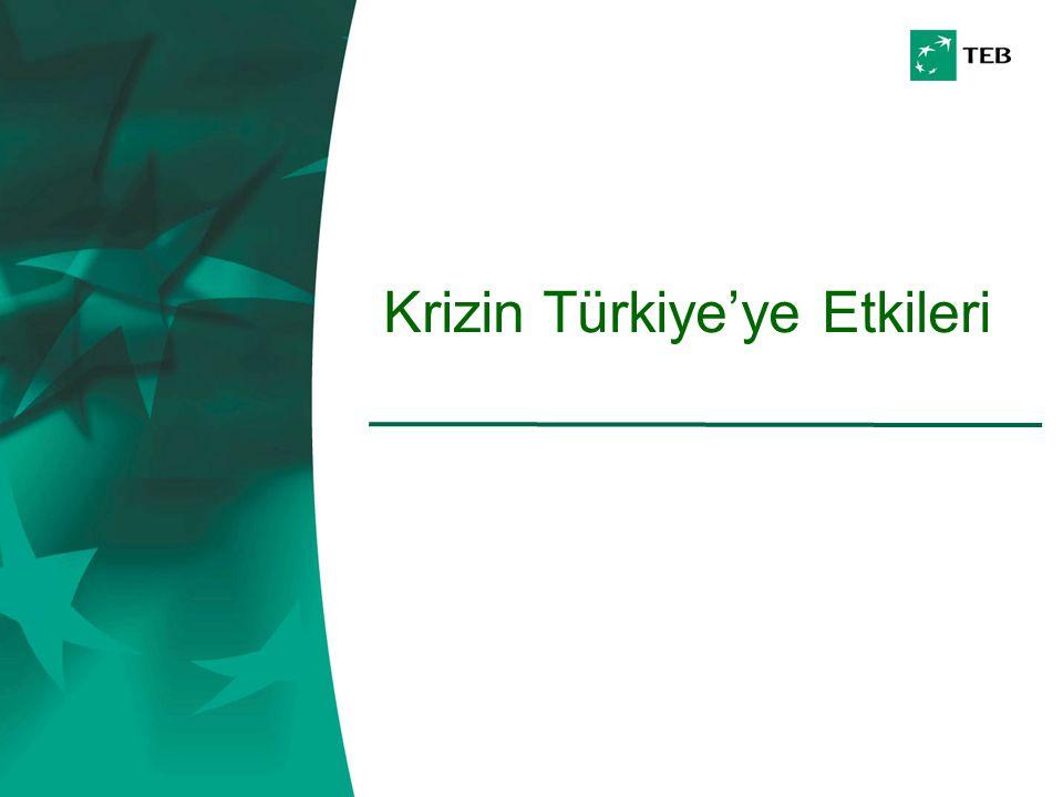Krizin Türkiye'ye Etkileri