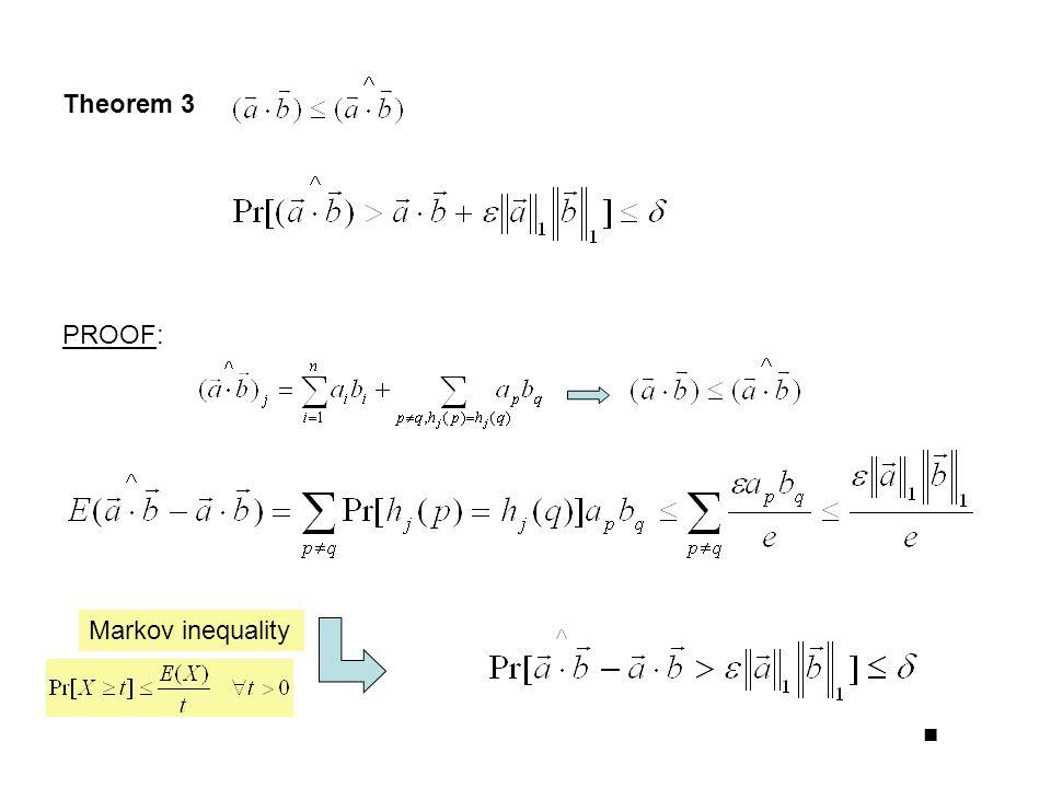 Theorem 3 PROOF: Markov inequality ■