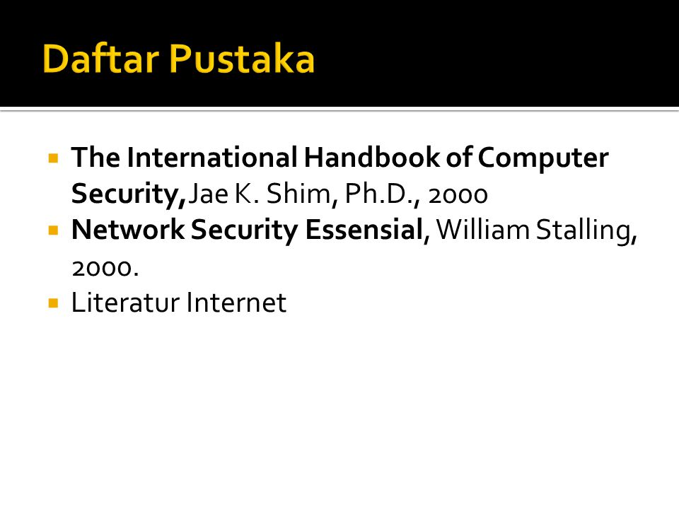  The International Handbook of Computer Security,Jae K.