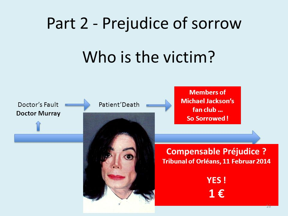 Doctor's Fault Doctor Murray Members of Michael Jackson's fan club … So Sorrowed .