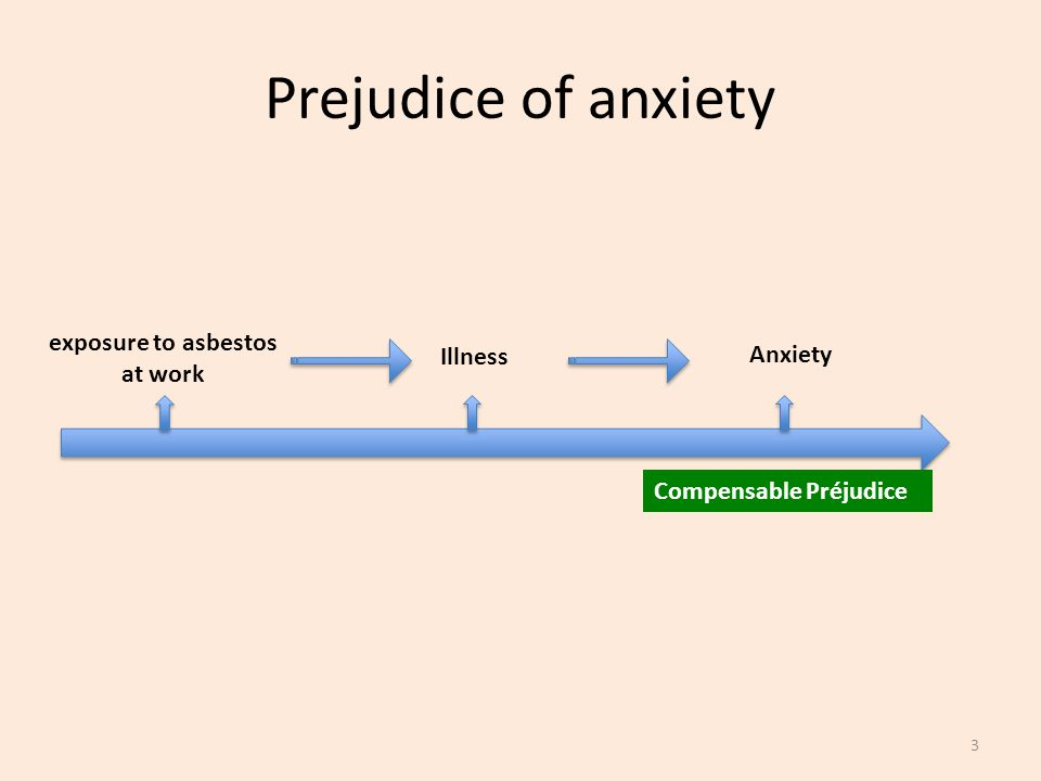 Prejudice of anxiety exposure to asbestos at work Illness Anxiety Compensable Préjudice 3