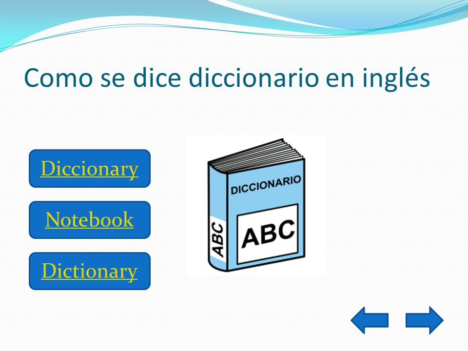 Como se dice diccionario en inglés Diccionary Notebook Dictionary