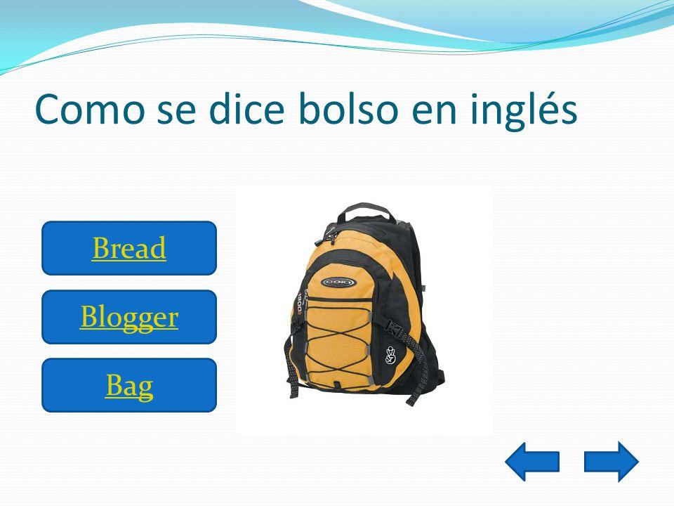 Como se dice bolso en inglés Bread Blogger Bag