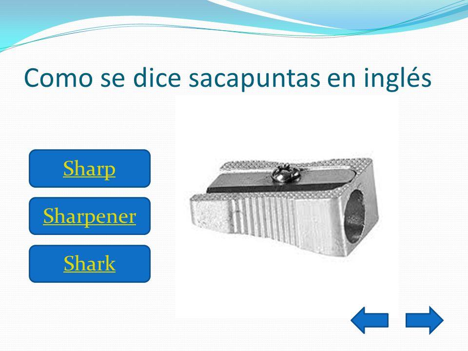 Como se dice sacapuntas en inglés Shark Sharpener Sharp