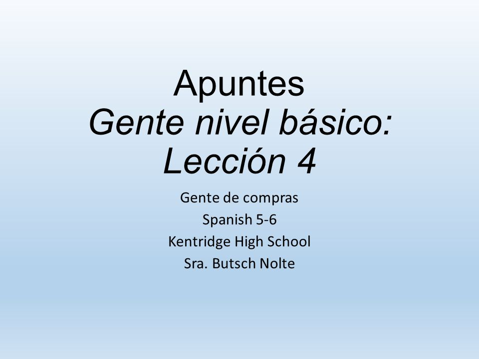 Apuntes (2.10.14) Dos verbos When you use two verbs together in a sentence you only conjugate the first verb.
