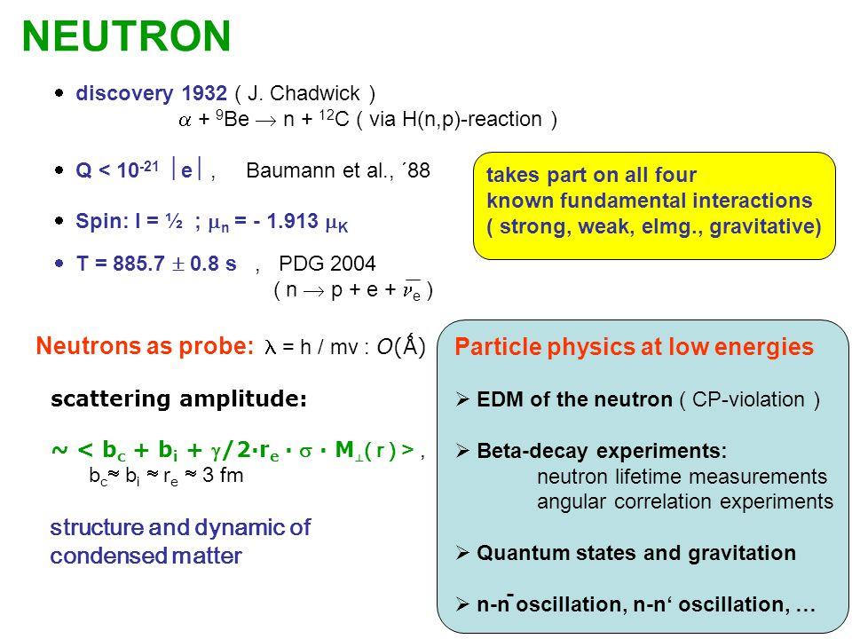 NEUTRON  discovery 1932 ( J.